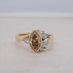 Marquise Cognac Diamond Cluster Ring