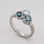 Blue Cluster Ring Angle 1080x1080