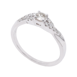 Infinity Twisted Diamond Solitaire Ring