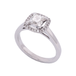 Ascher Cut Diamond Halo Ring