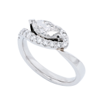 Marquise Twisted Diamond Engagement Ring