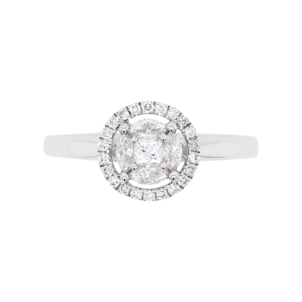 Delicate Diamond Cluster Halo Ring Top 1083x1083