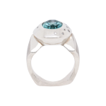 Apatite Diamond Dress Ring White Gold Ring Front 1083x1083