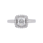 Ascher Cut Diamond Halo Ring Top 1083x1083