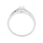 Twisted Diamond White Gold Engagement Ring Front 1083x1083