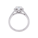 Ascher Cut Diamond Halo Ring Front 1083x1083