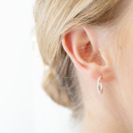Small Hoop Earrings Silver On Ear 1080x1350