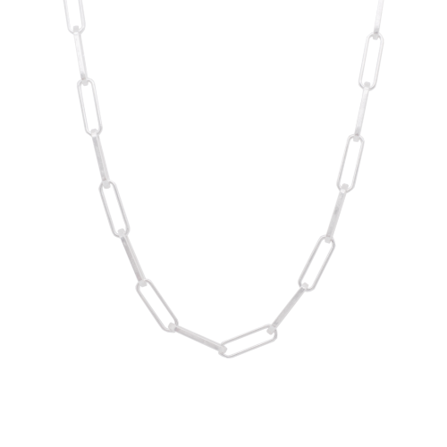 Silver Paper Chain Necklace