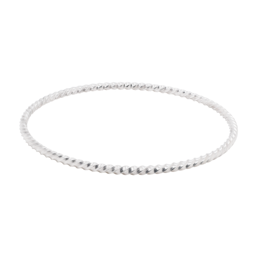 Silver Stacker Rope Bangle