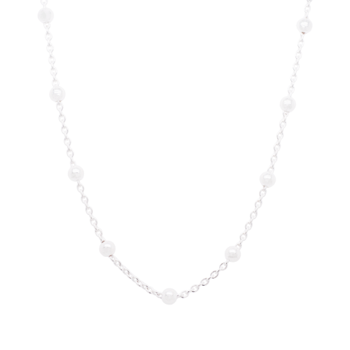 Delicate Silver Ball Chain