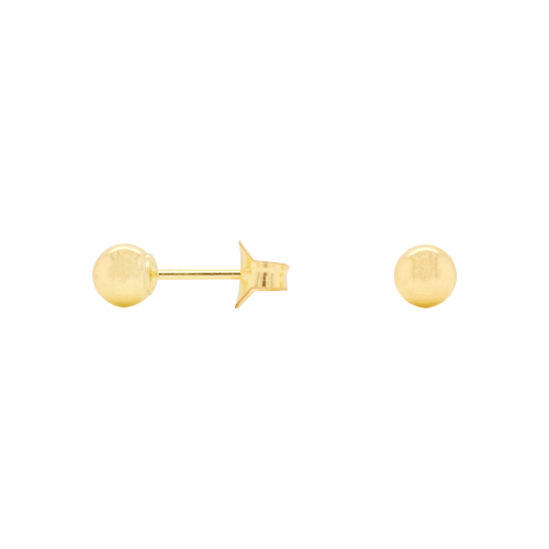 Medium Staple Gold Stud Earrings