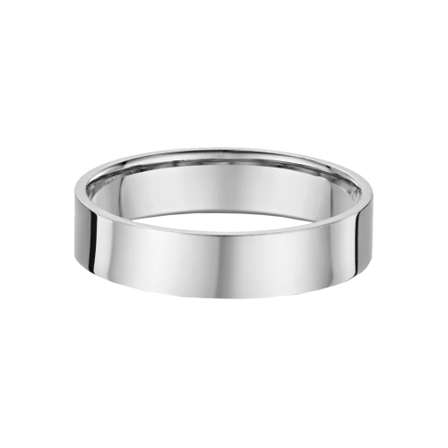 Classic Flat 5mm Wide Wedding Ring