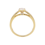 Rubover Set Round Brilliant Diamond Yellow Gold Solitaire Ring Front 1083x1083