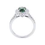 Green Tourmaline Diamond Halo Dress Ring Front 1083x1083