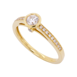 Rubover Set Diamond Solitaire Ring