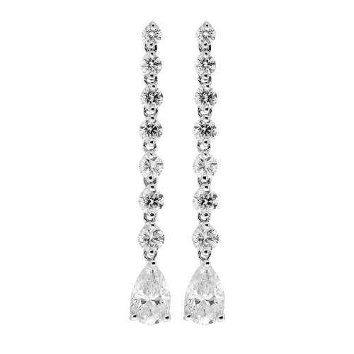 Elegant Diamond Drop Earrings